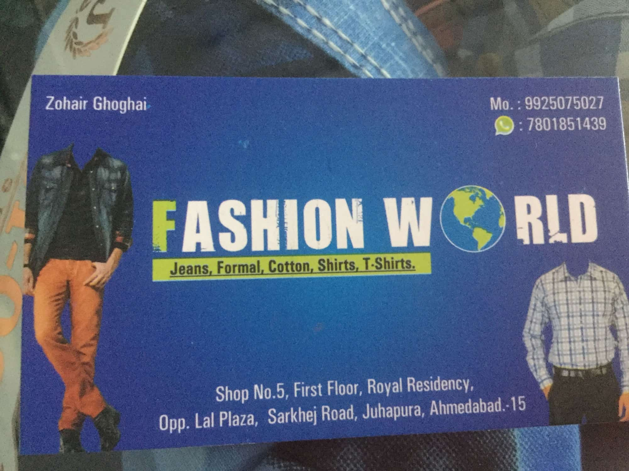 Fashion World Juhapura Gents Readymade Garment Retailers In Ahmedabad Justdial