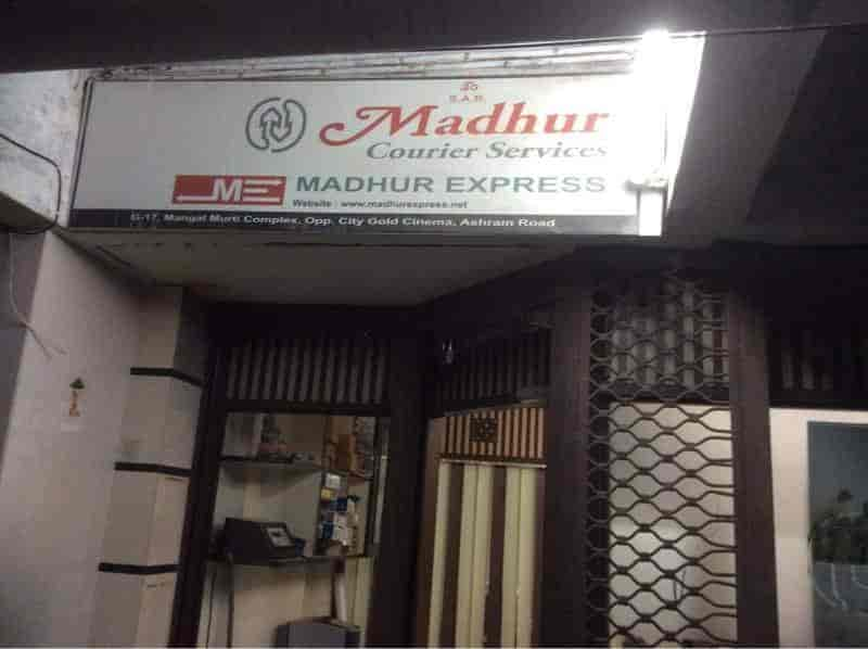 Madhur Courier Services Ashram Road Ahmedabad Courier Services Justdial