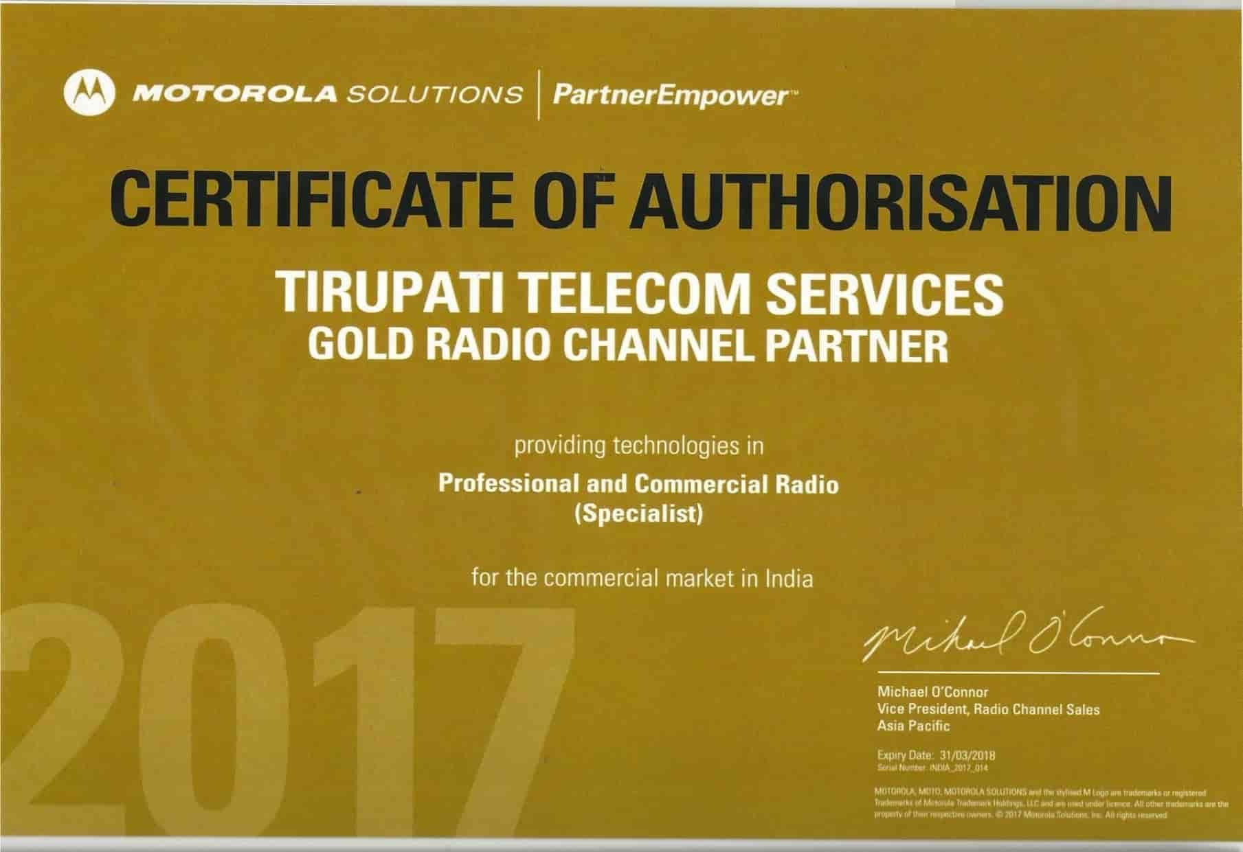 Tirupati Telecom Services, Gurukul - Wireless Radio System Dealers