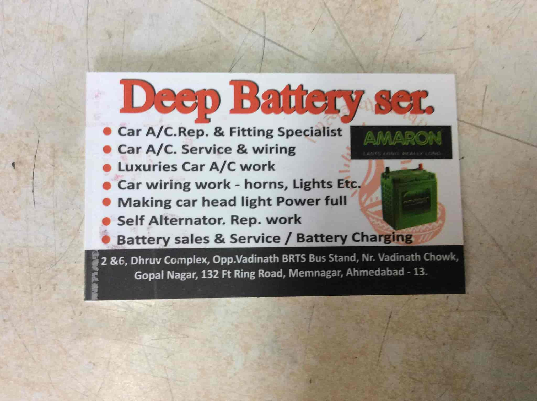 Deep Auto Electric And Car Ac Works Memnagar Wiring Battery Dealers In Ahmedabad Justdial