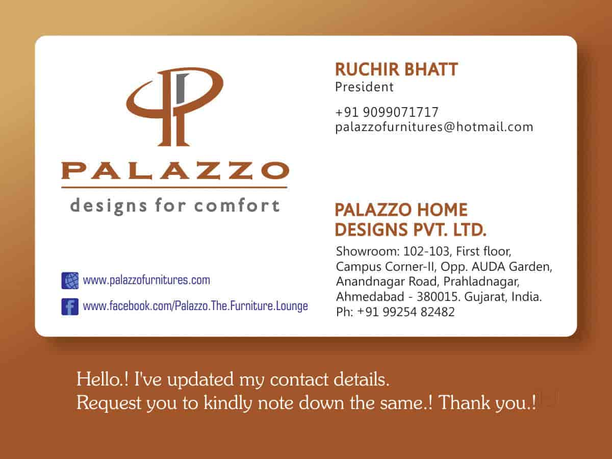 Palazzo Home Designs Pvt Ltd, Satellite - Furniture Dealers in ...