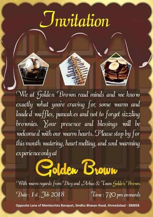 Golden Brown, Bodakdev, Ahmedabad - Fast Food - Justdial