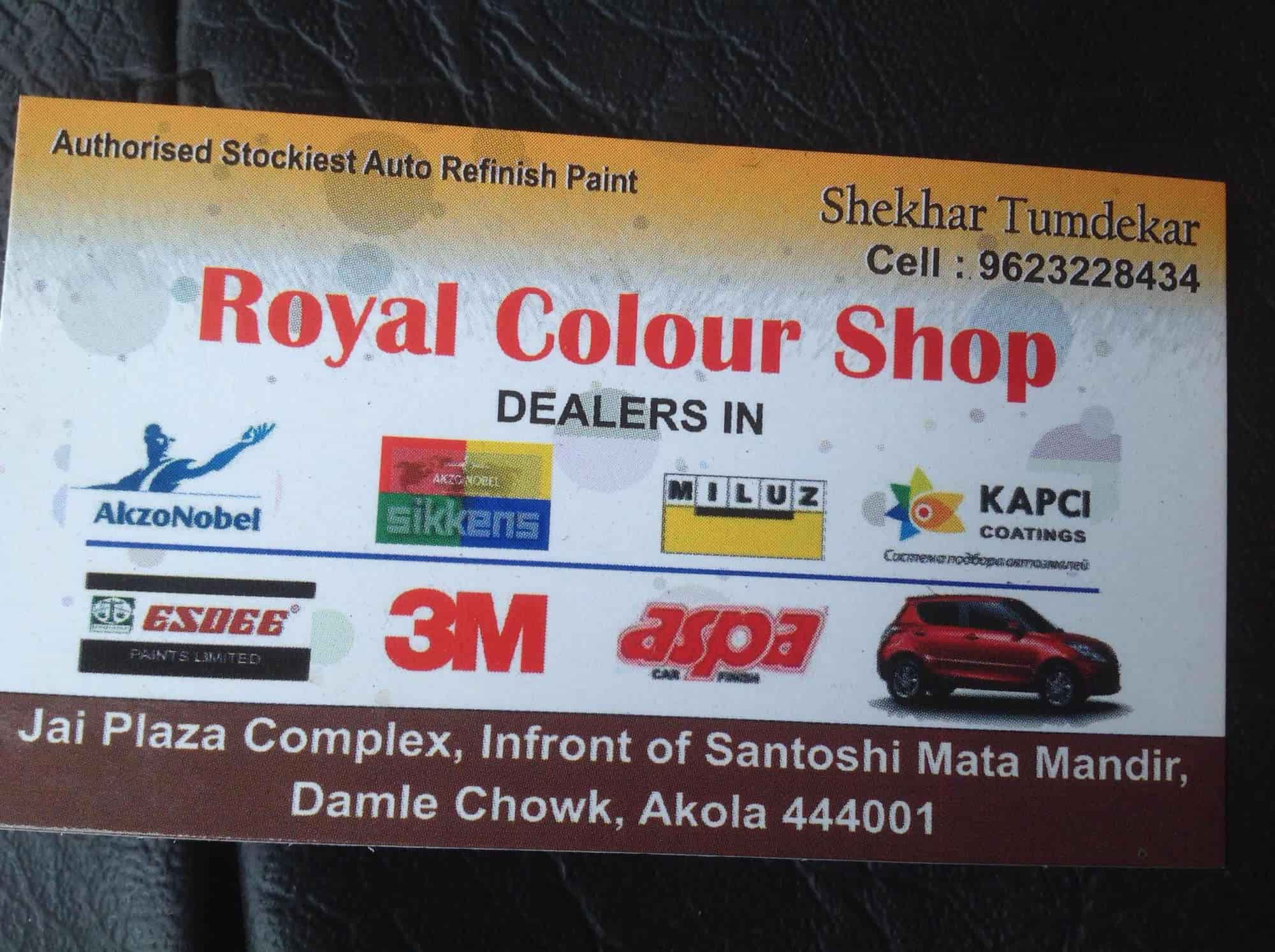 Royal Colour Shop, Tilak Road - Paint Dealers in akola - Justdial