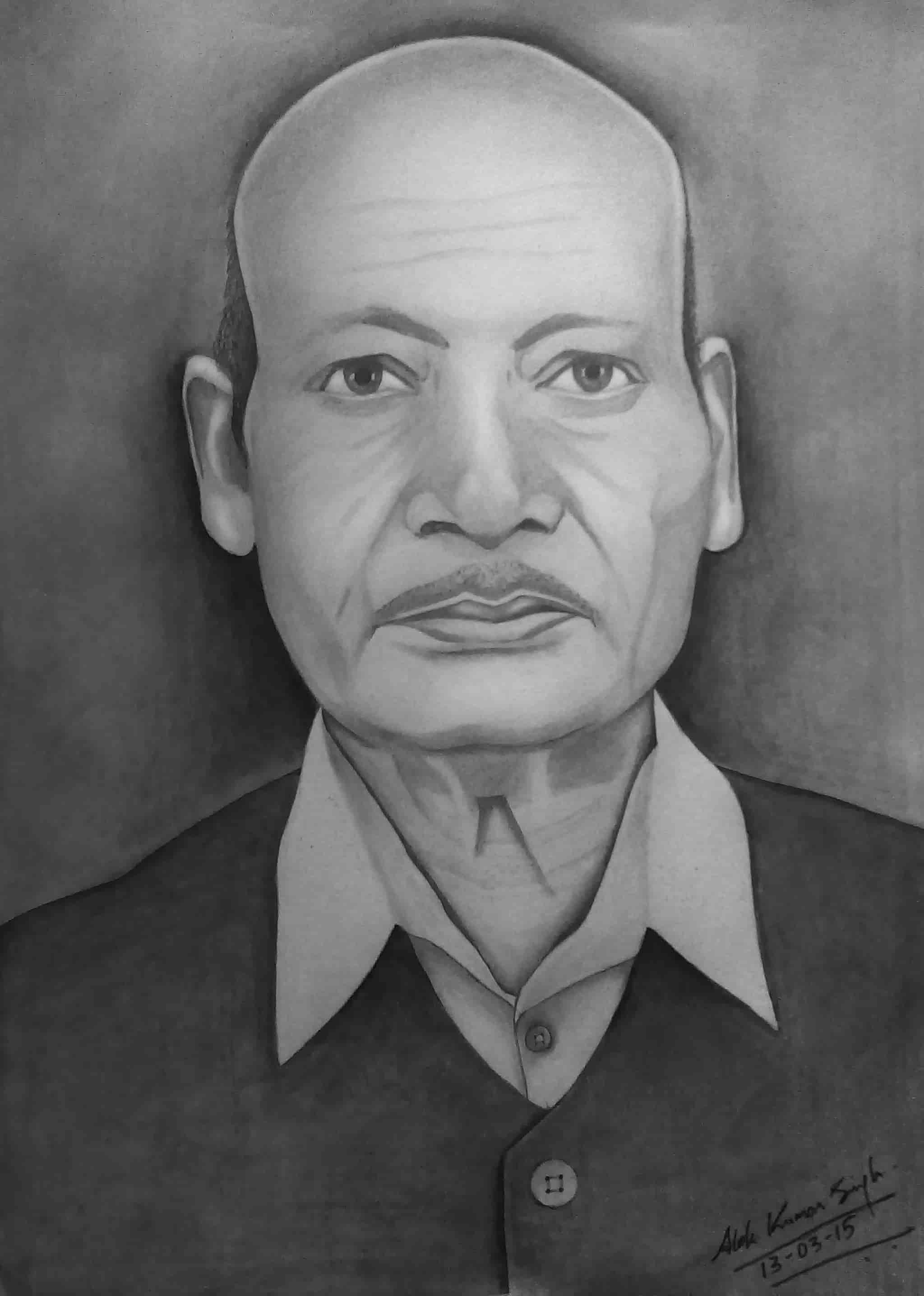 Sketch painting gift a pencil sketch to your loved ones photos naini allahabad