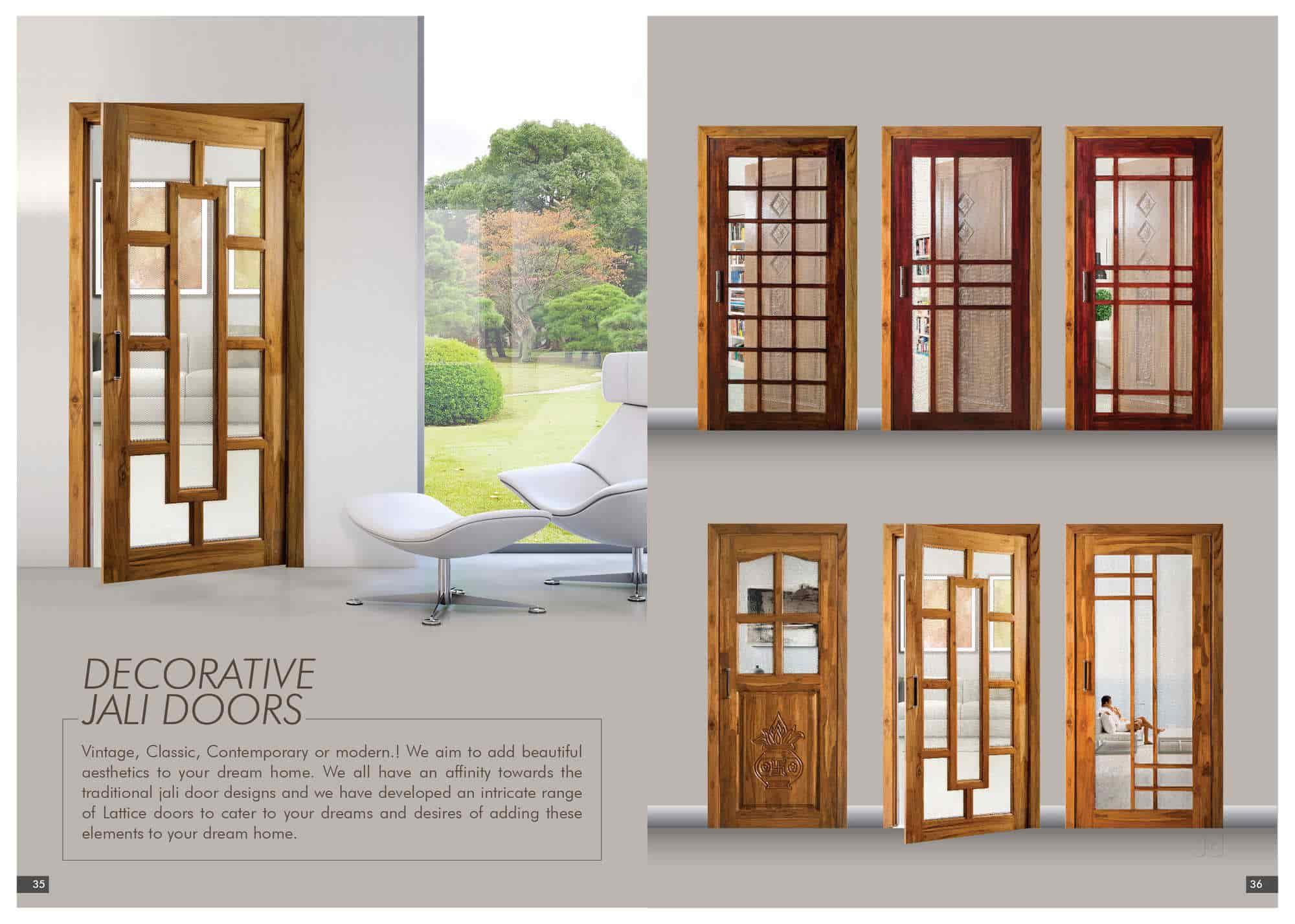 Kitchen Jali Door Design
