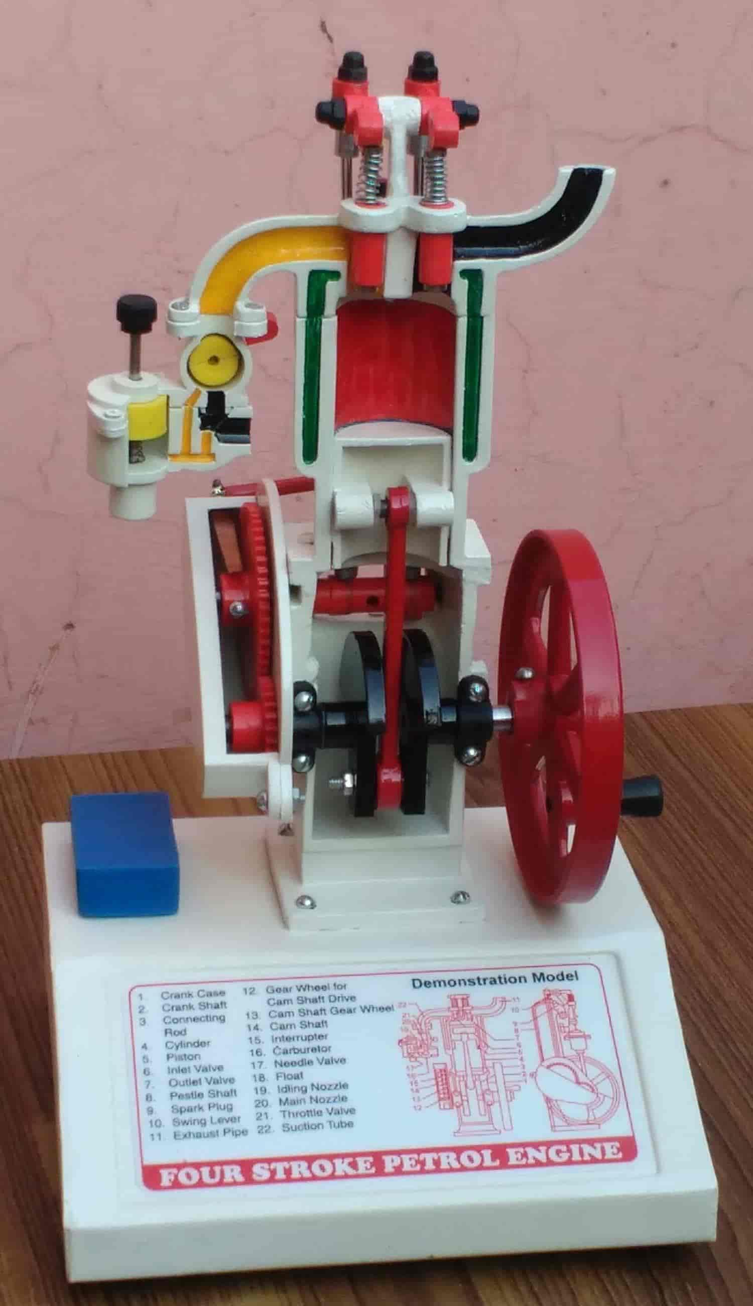... Four Stroke Petrol Engine Working Model - Advance Laboratory Supplies Co Photos, Azad Nagar, ...