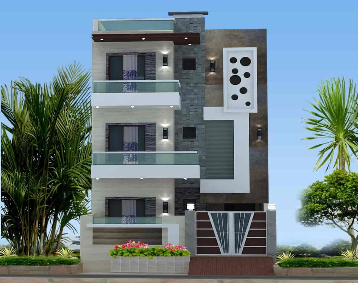 Front Elevation Tower : D building elevation pixshark images