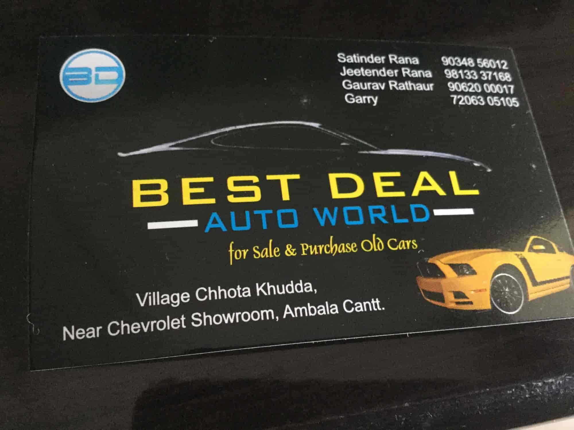 Best Deal Auto Zone, Ambala City - Second Hand Car Dealers in Ambala - Justdial