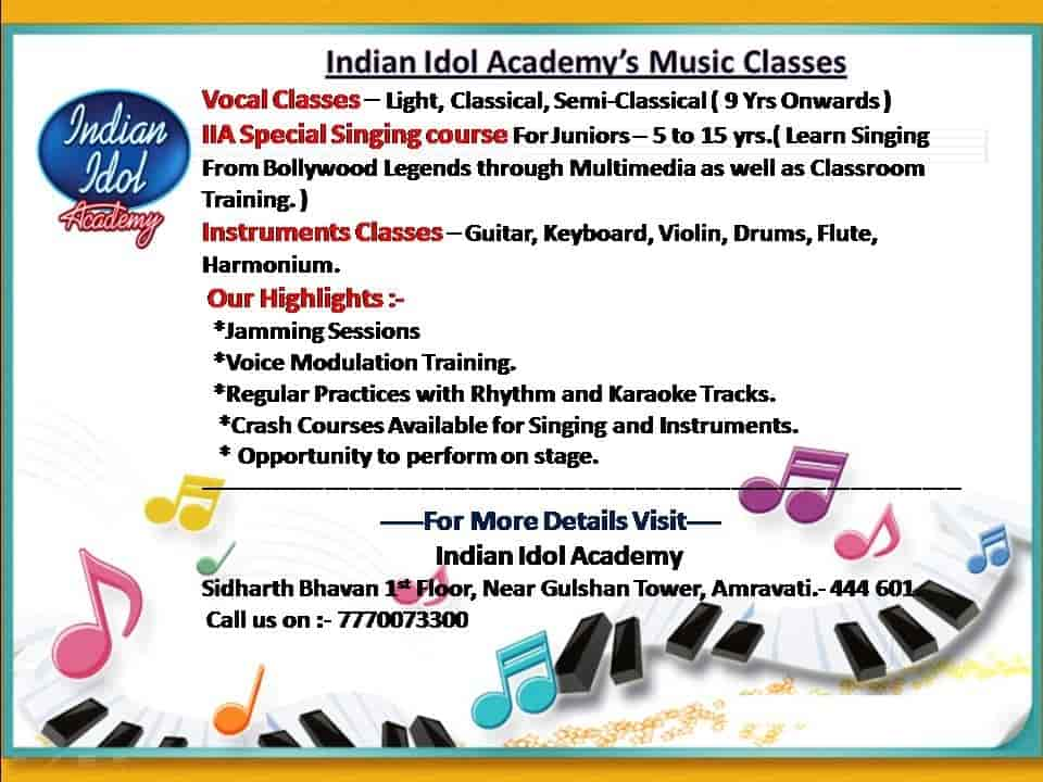 Indian IDOL Academy, Amravati HO - Music Classes For Vocal in