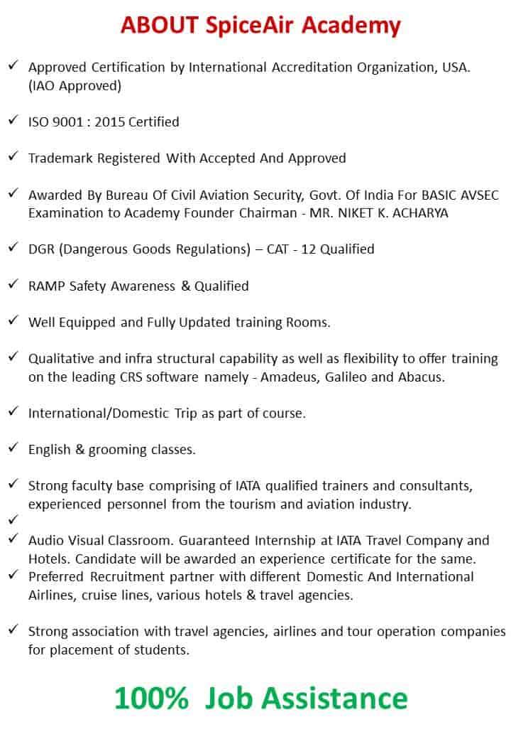 Spiceair Academy, Vallabh Vidyanagar - Air Hostess Training