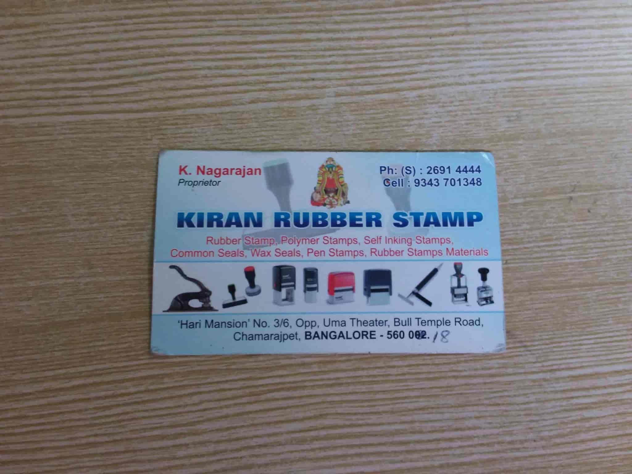 Kiran Rubber Stamps Chamarajpet