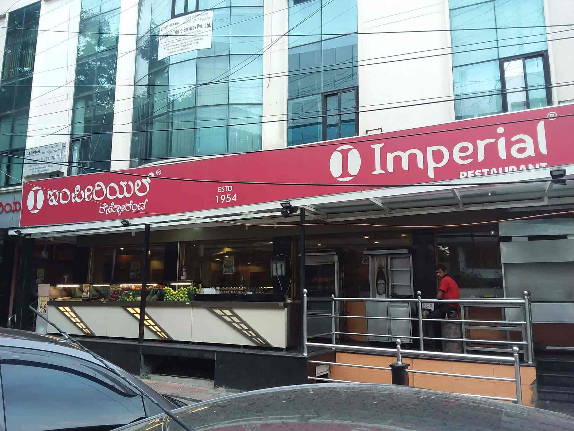 Imperial Restaurant Vasanth Nagar Bangalore North Indian Cuisine