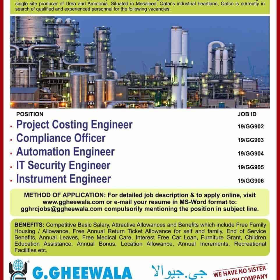 Qatar Fertiliser Company Qafco Jobs 2019 Vulearning Jobs