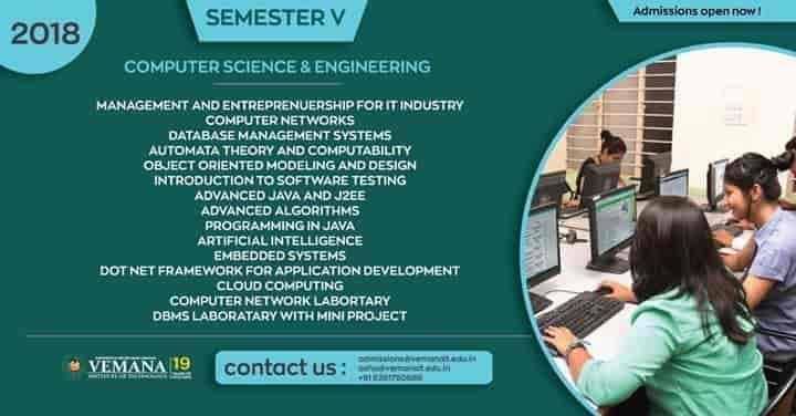 Vemana Institute Of Technology, Koramangala - Engineering Institutes