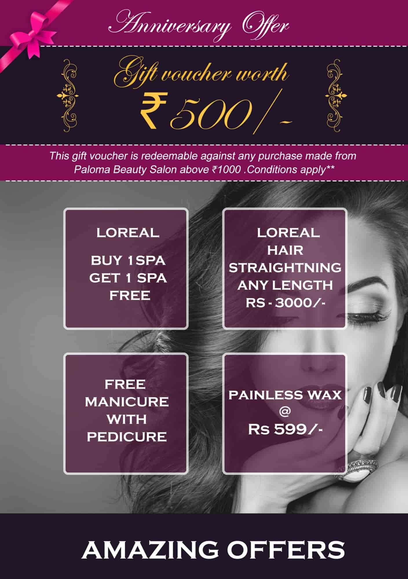 Paloma Beauty Salon, Rt Nagar - Beauty Parlours in Bangalore