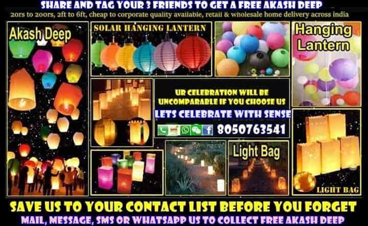 Unique Items, Avenue Road - Sky Lantern Dealers in Bangalore