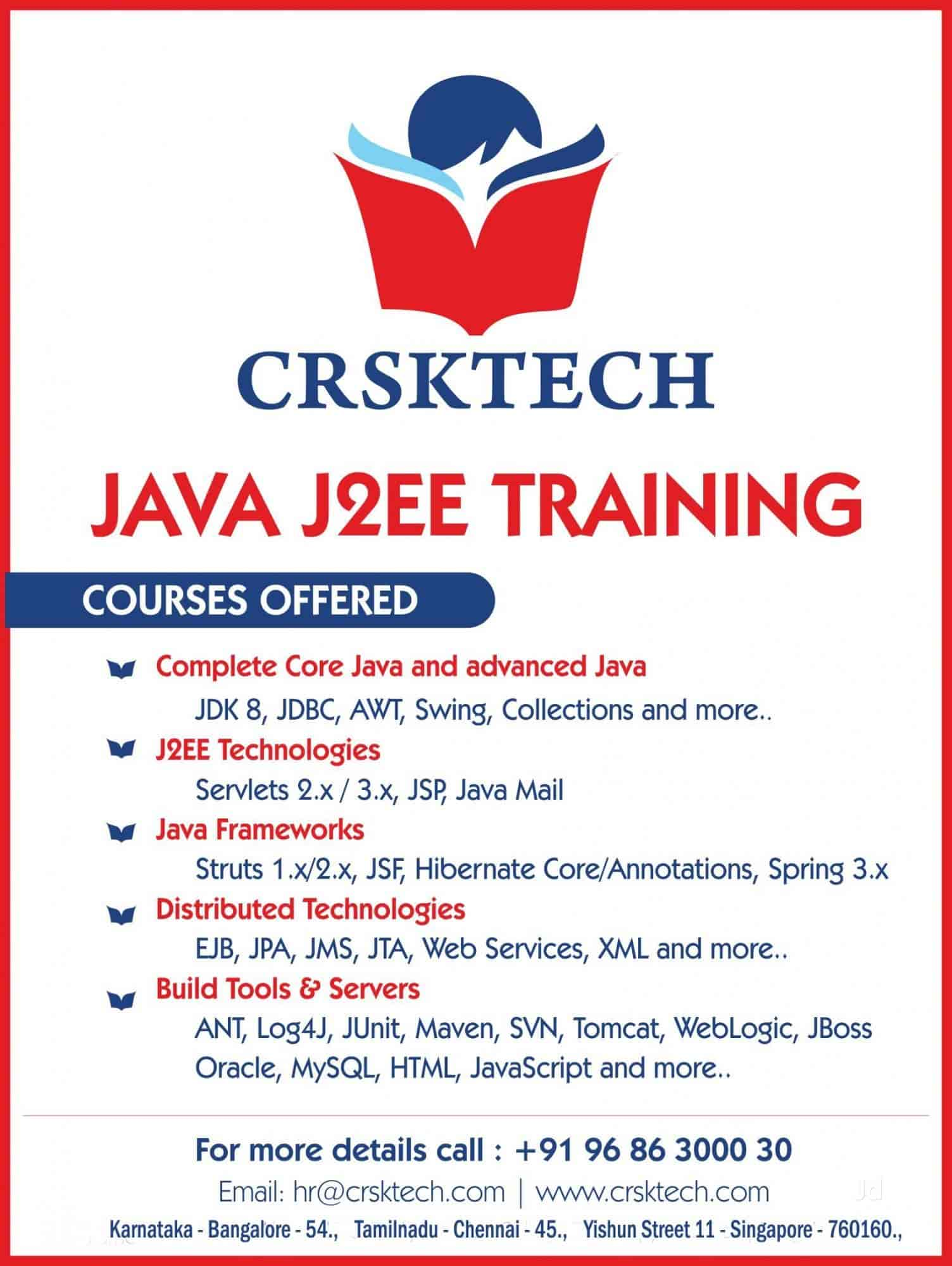 C R S K Tech JAVA & J2ee Training Institute, Mathikere