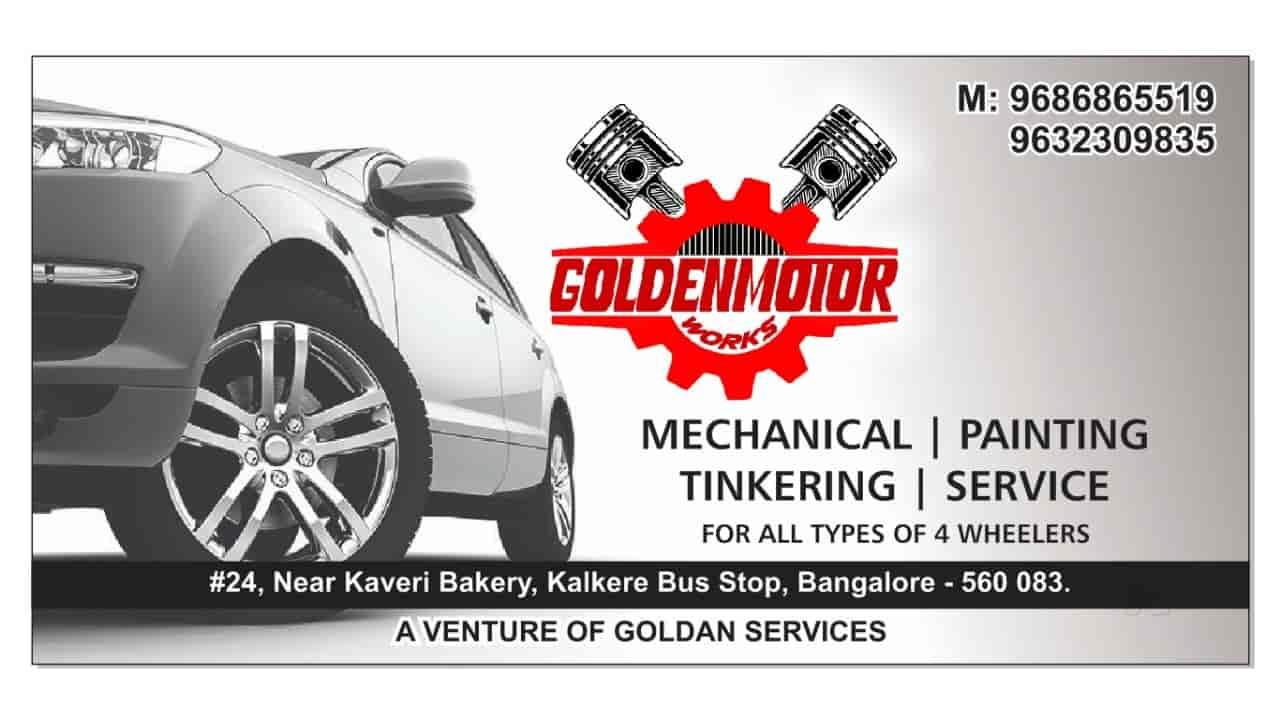 Golden Motor Works Horamavu Car Repair Services In Bangalore Justdial