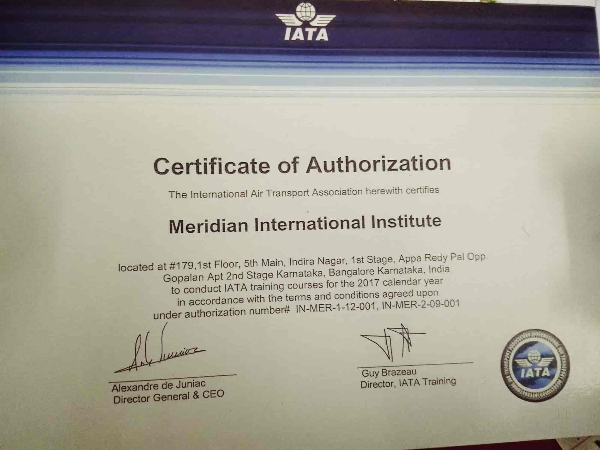 Meridian International Institute, Indiranagar - Institutes