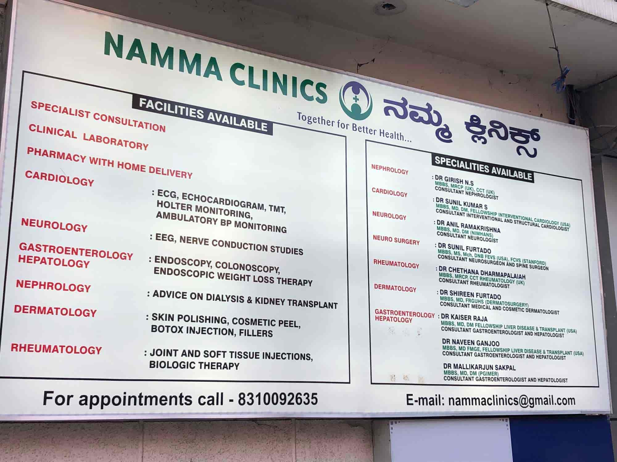 Namma Clinics - Neurosurgeons - Book Appointment Online
