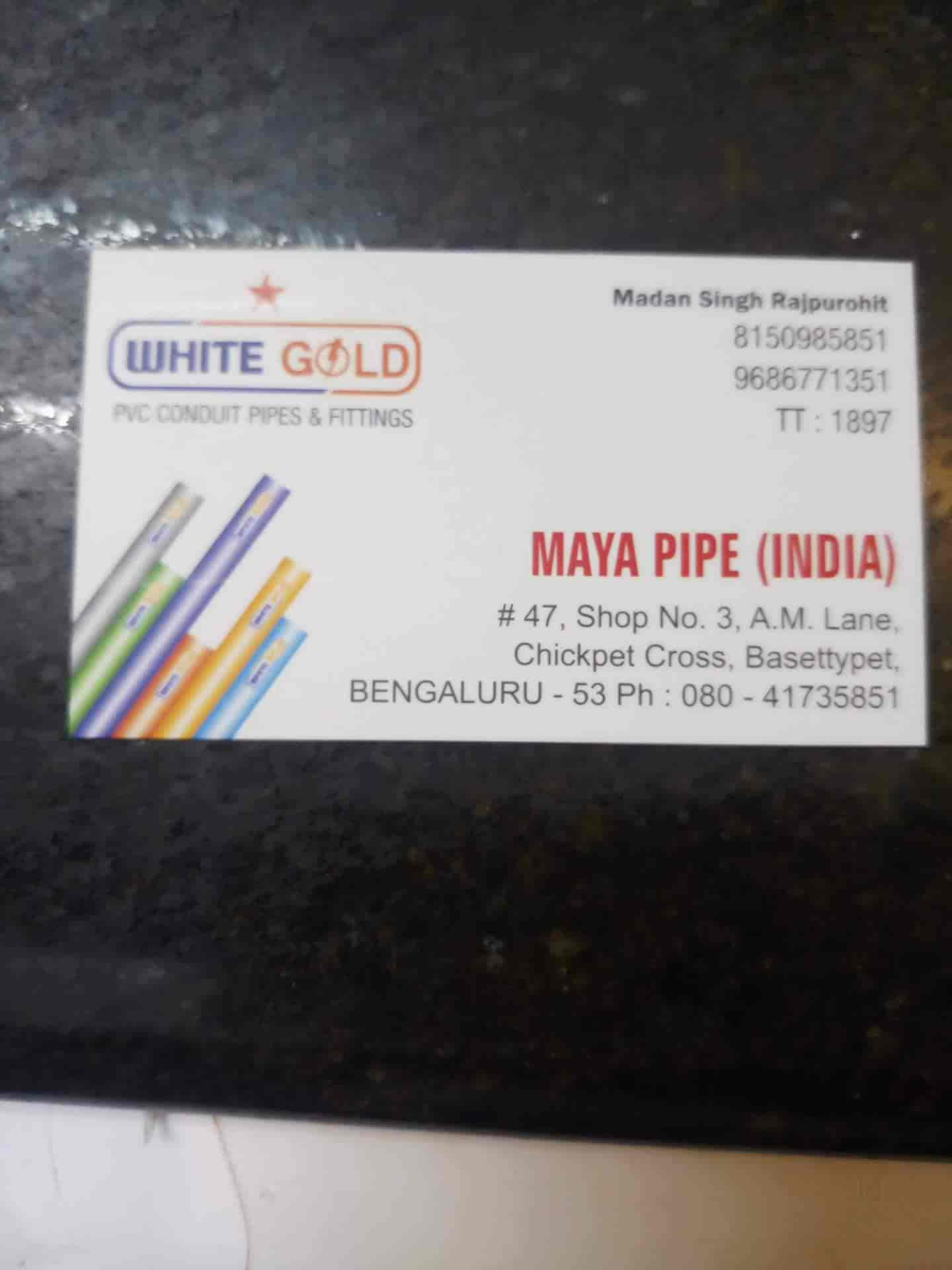 Maya Pipe (INDIA), BVK Iyengar Road - Pipe Dealers in