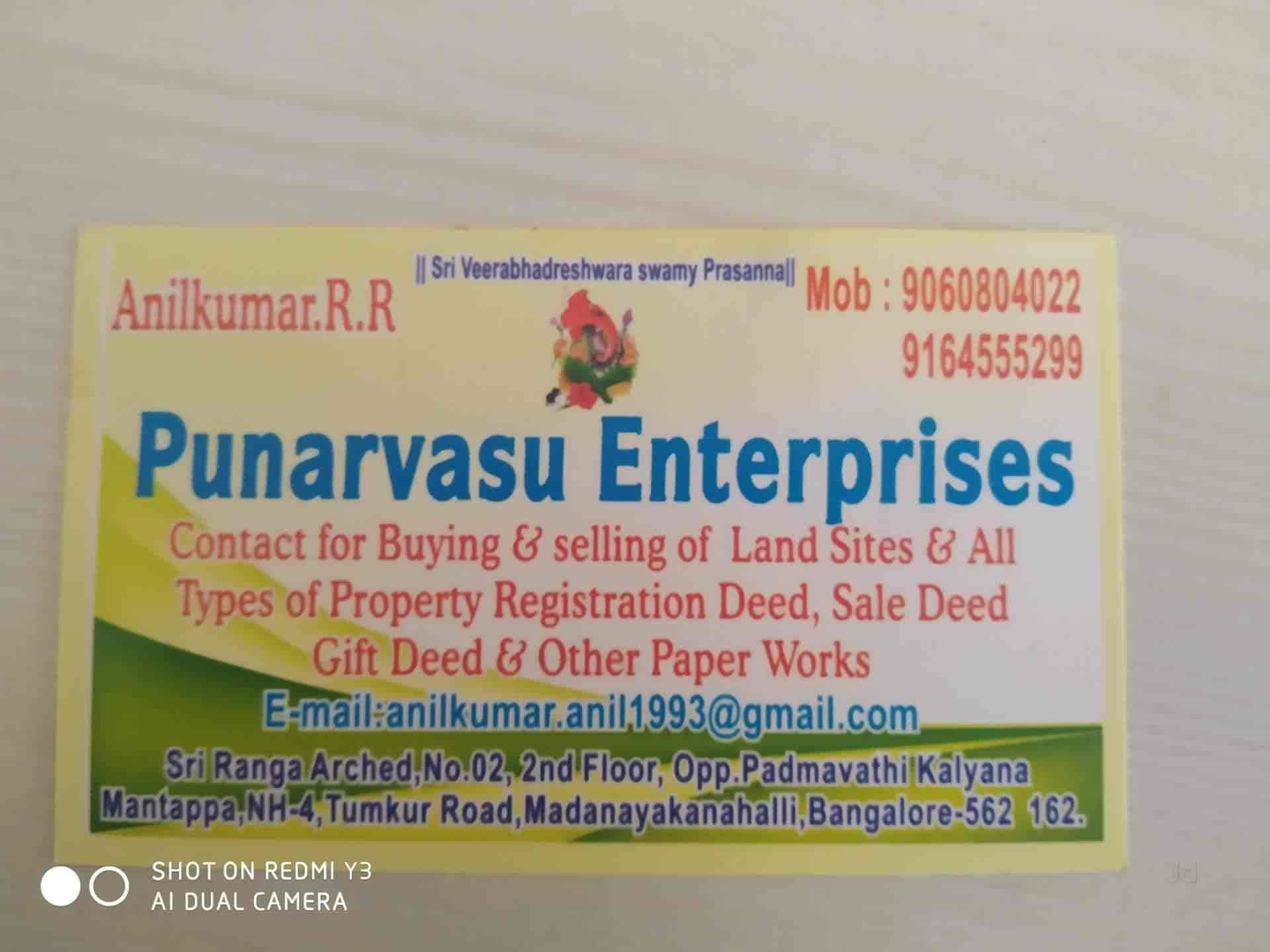 Punarvasu Enterprises Madanayakana Halli Property Consultants In Bangalore Justdial