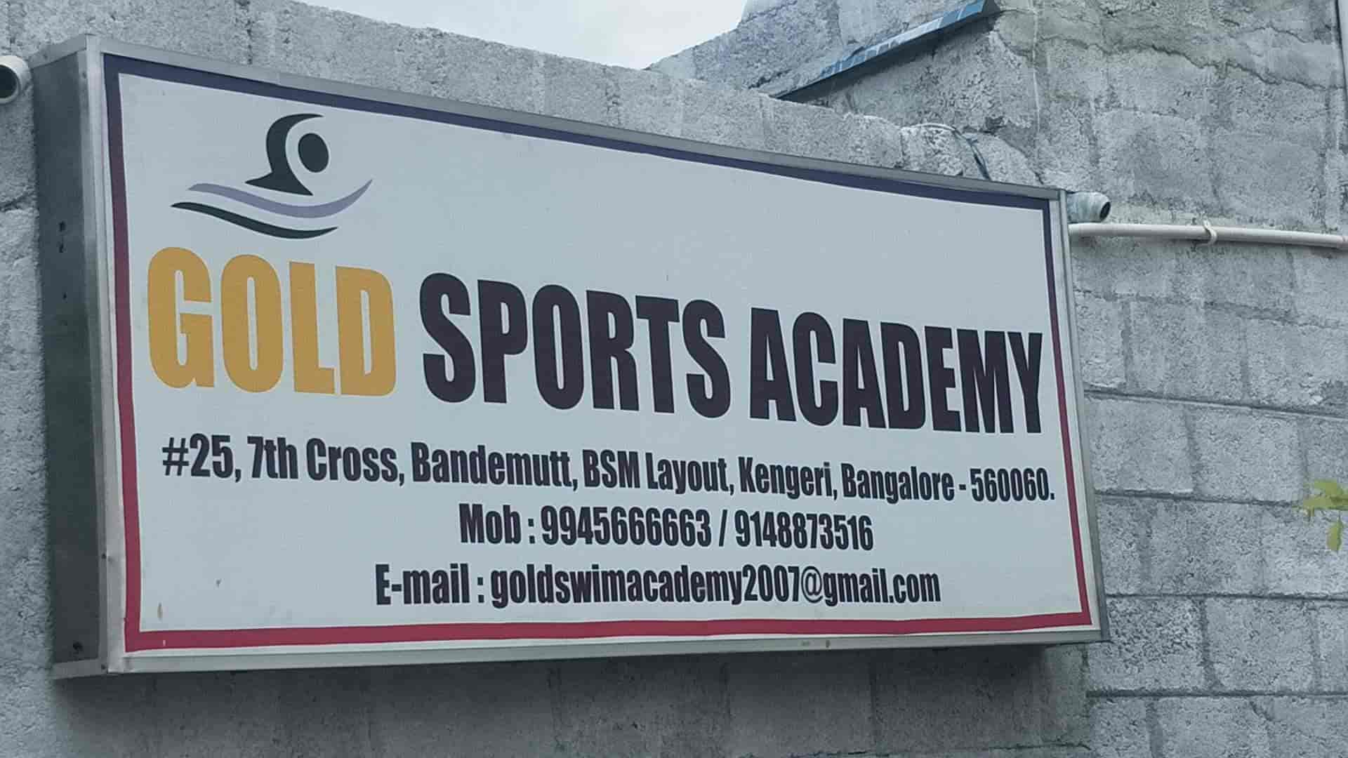 Gold Sports Academy, Kengeri - Swimming Classes in Bangalore - Justdial