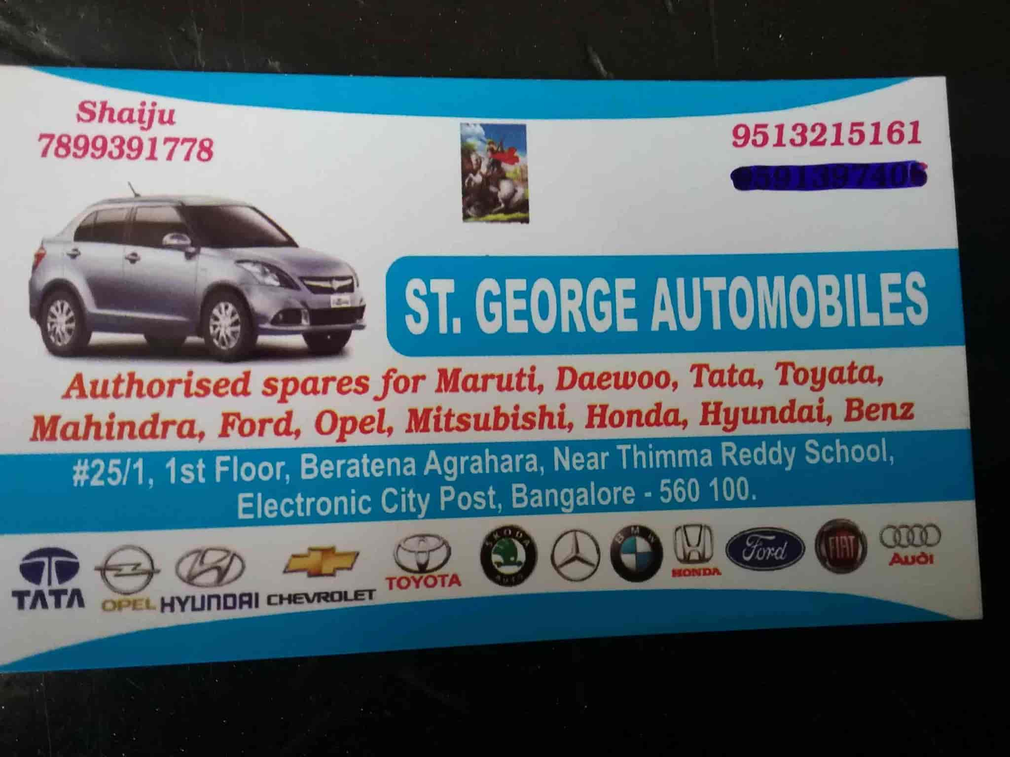 St George Automobiles s Electronic City Bangalore