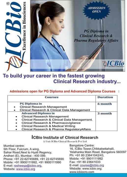 ICBIO Clinical Research Pvt Ltd, Vidyaranyapura - Placement