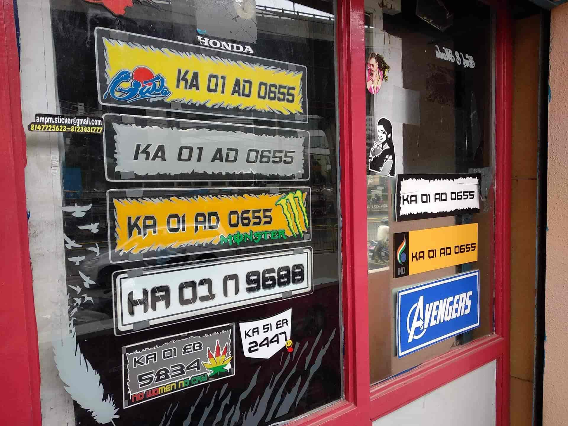 A1 am pm stickers cutting photos garvebhavipalya bangalore sign board dealers