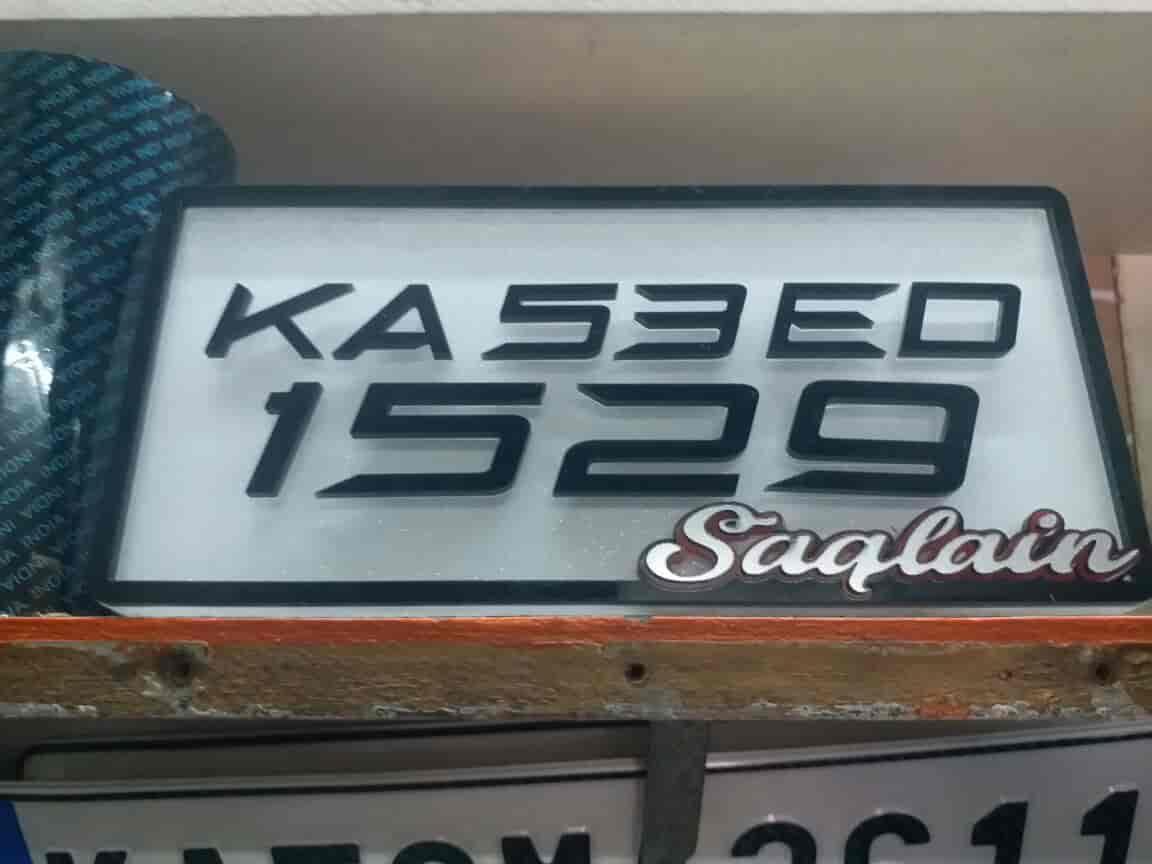 Number plate aqsa sticker design photos ramamurthy nagar bangalore car number plate