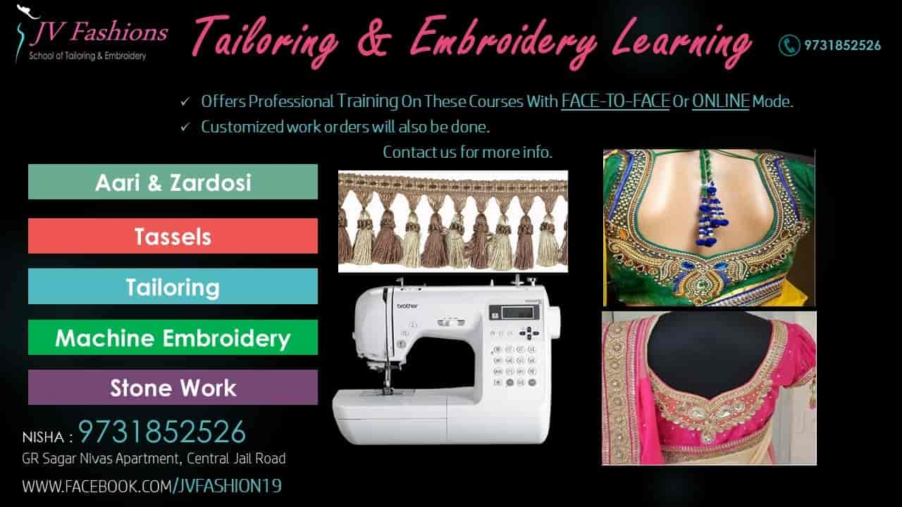 Jv Fashions School Of Embroidery Tailoring Rayasandra Fashion Designers In Bangalore Justdial