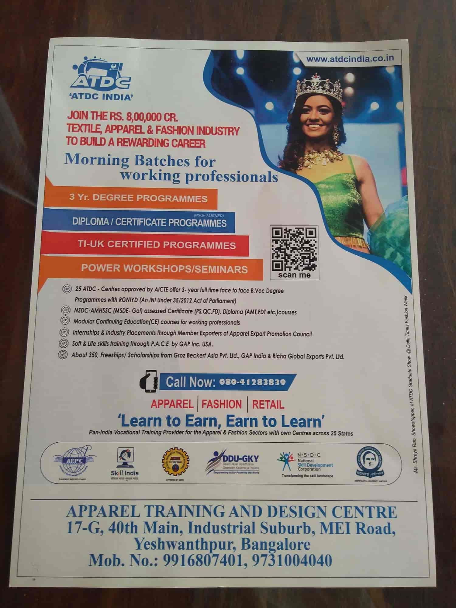 Apparel Training And Design Centre Yeshwanthpur Fashion Designing Institutes In Bangalore Justdial