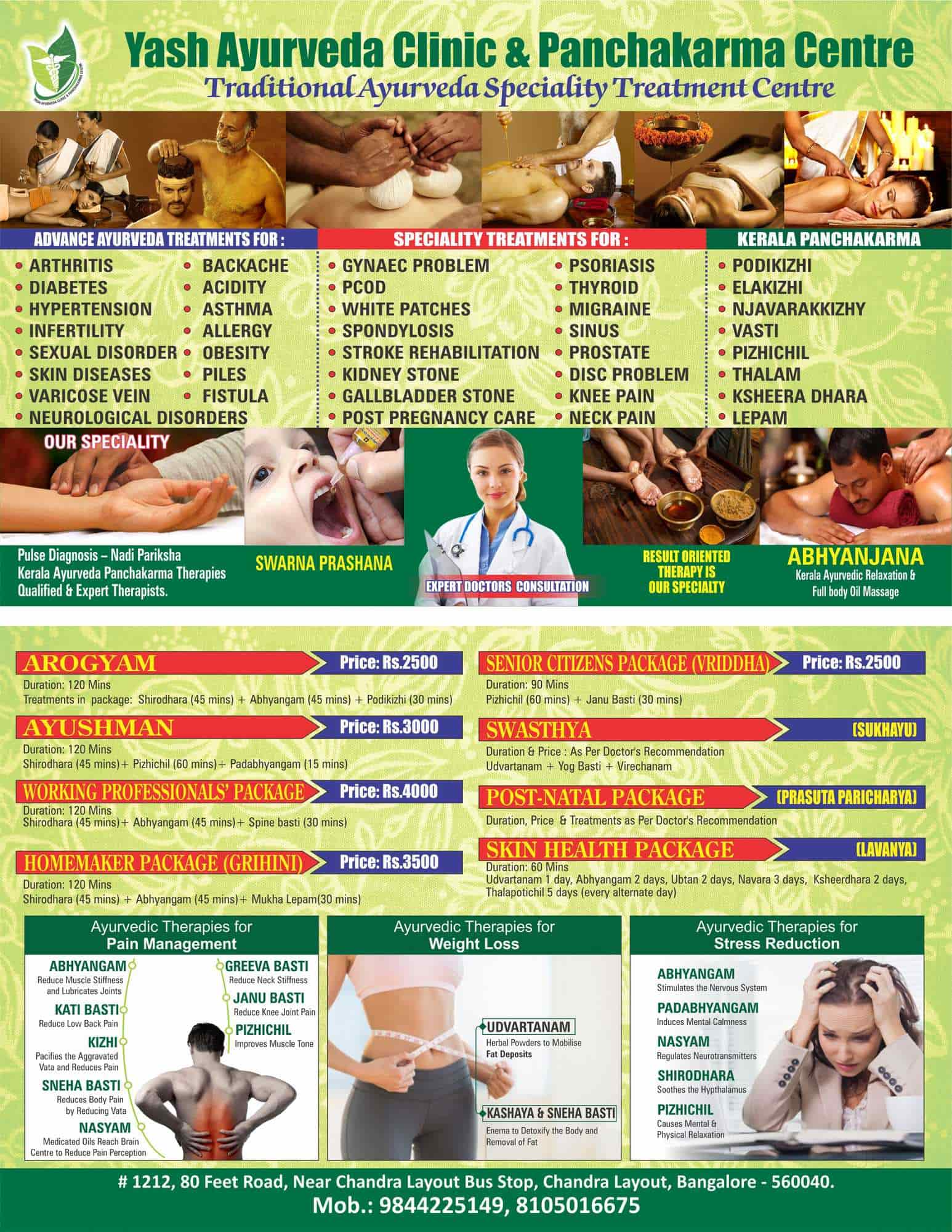 Kerala ayurvedic weight loss packages