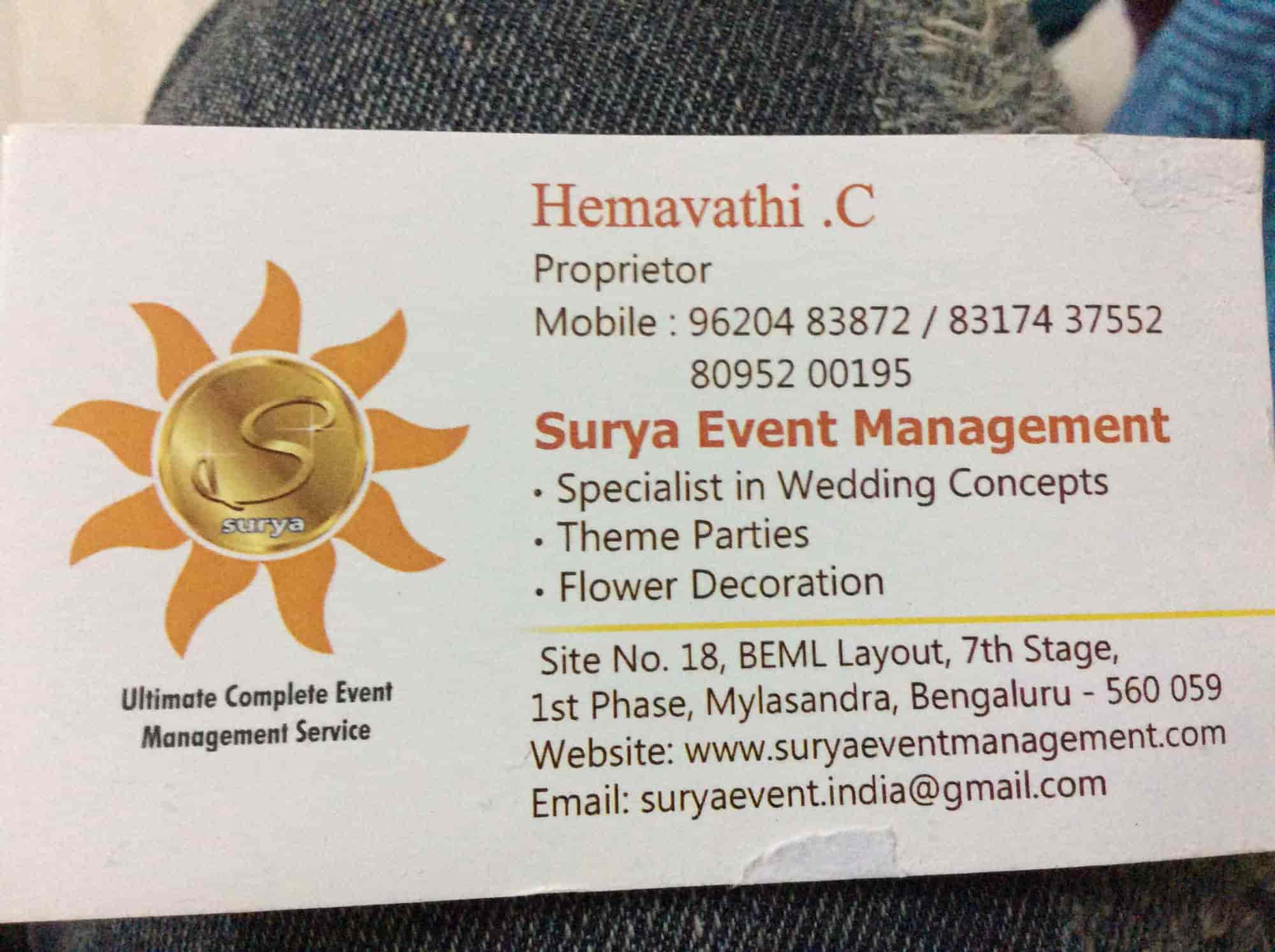 Surya event management photos mylasandra bangalore pictures visiting card surya event management photos mylasandra bangalore caterers junglespirit Image collections
