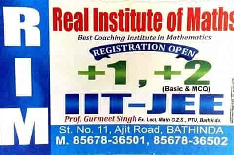 Real Institute Of Maths, Bhatinda City - Tutorials For Maths
