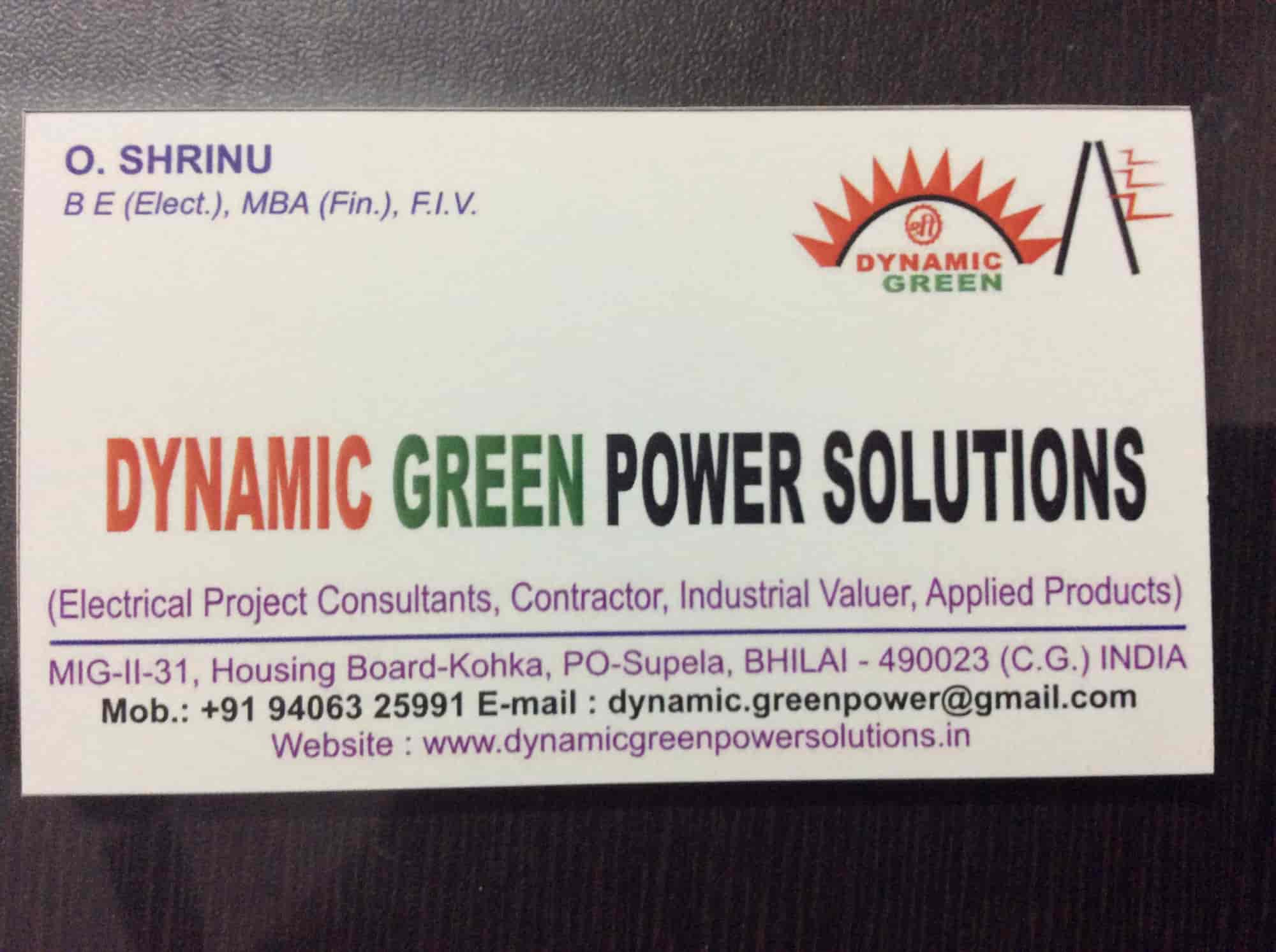 Dynamic Green Power Solution, Power House - Electrical
