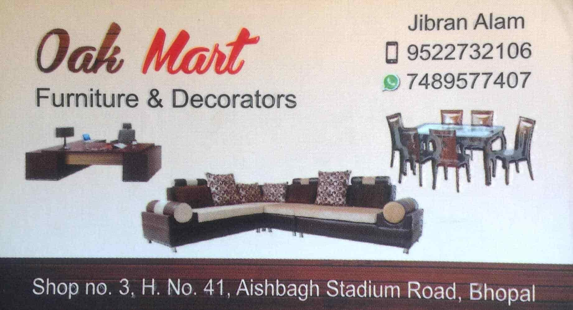 Visiting Card   Oak Mart Furniture And Decorators Photos, , Bhopal    Carpenters