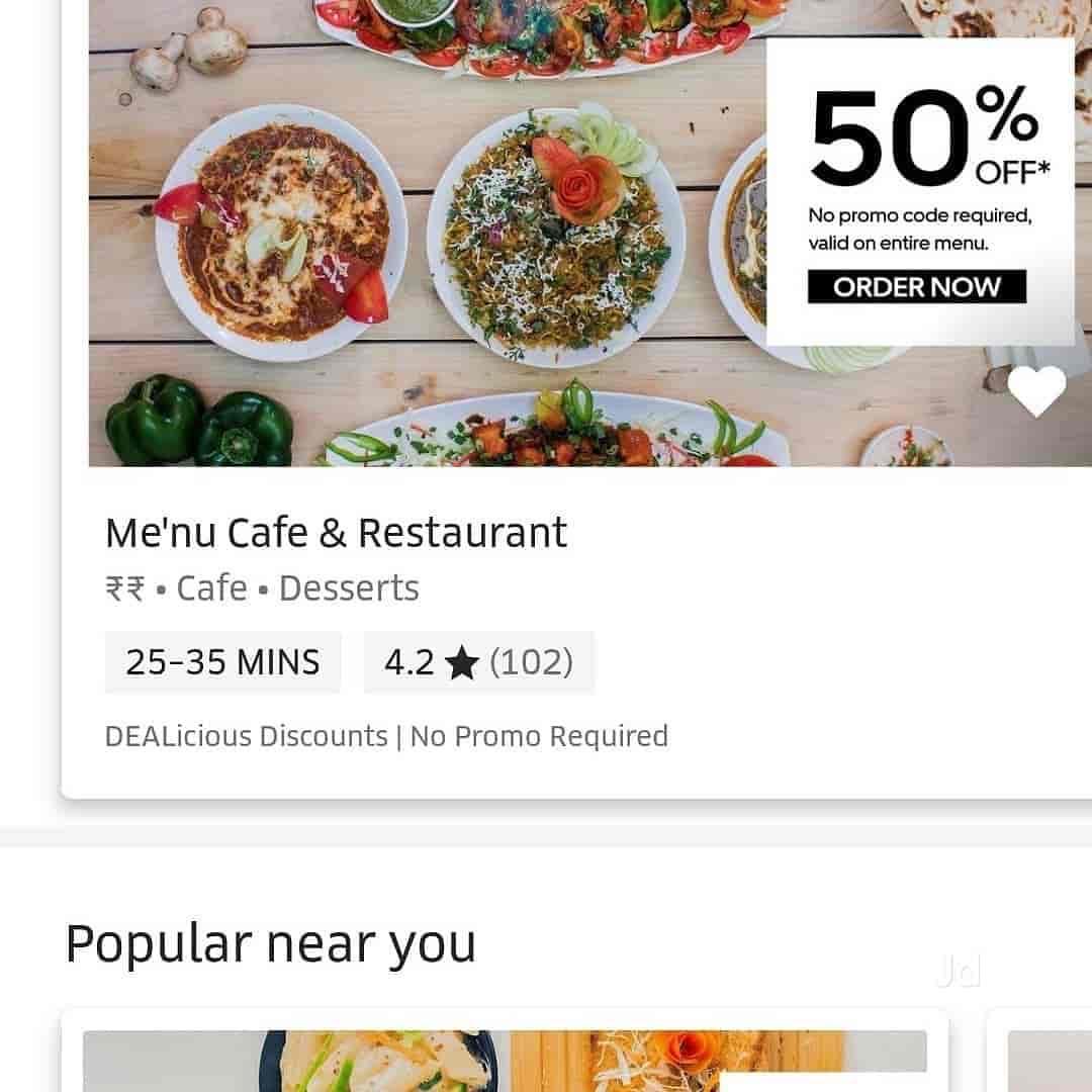 Menu Cafe Restaurant, Gulmohar Colony, Bhopal - restaurants