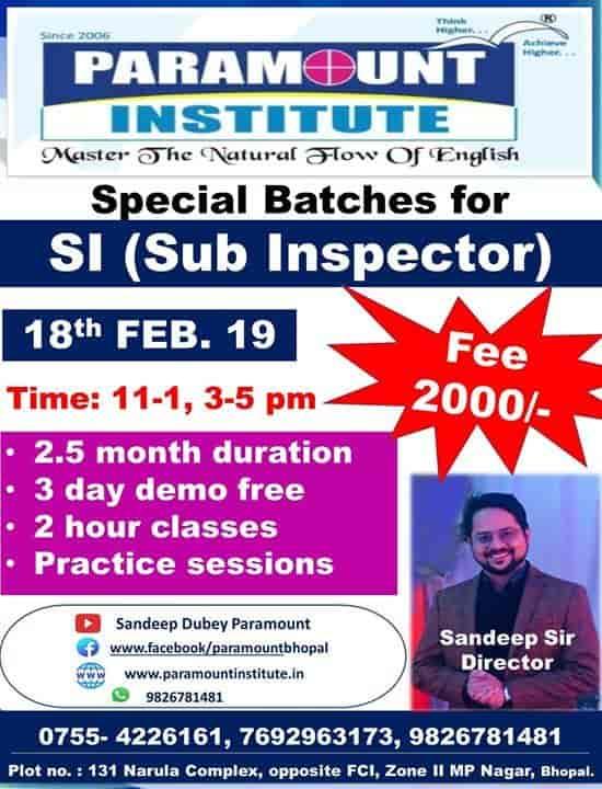Paramount Institute, M P Nagar - Language Classes For