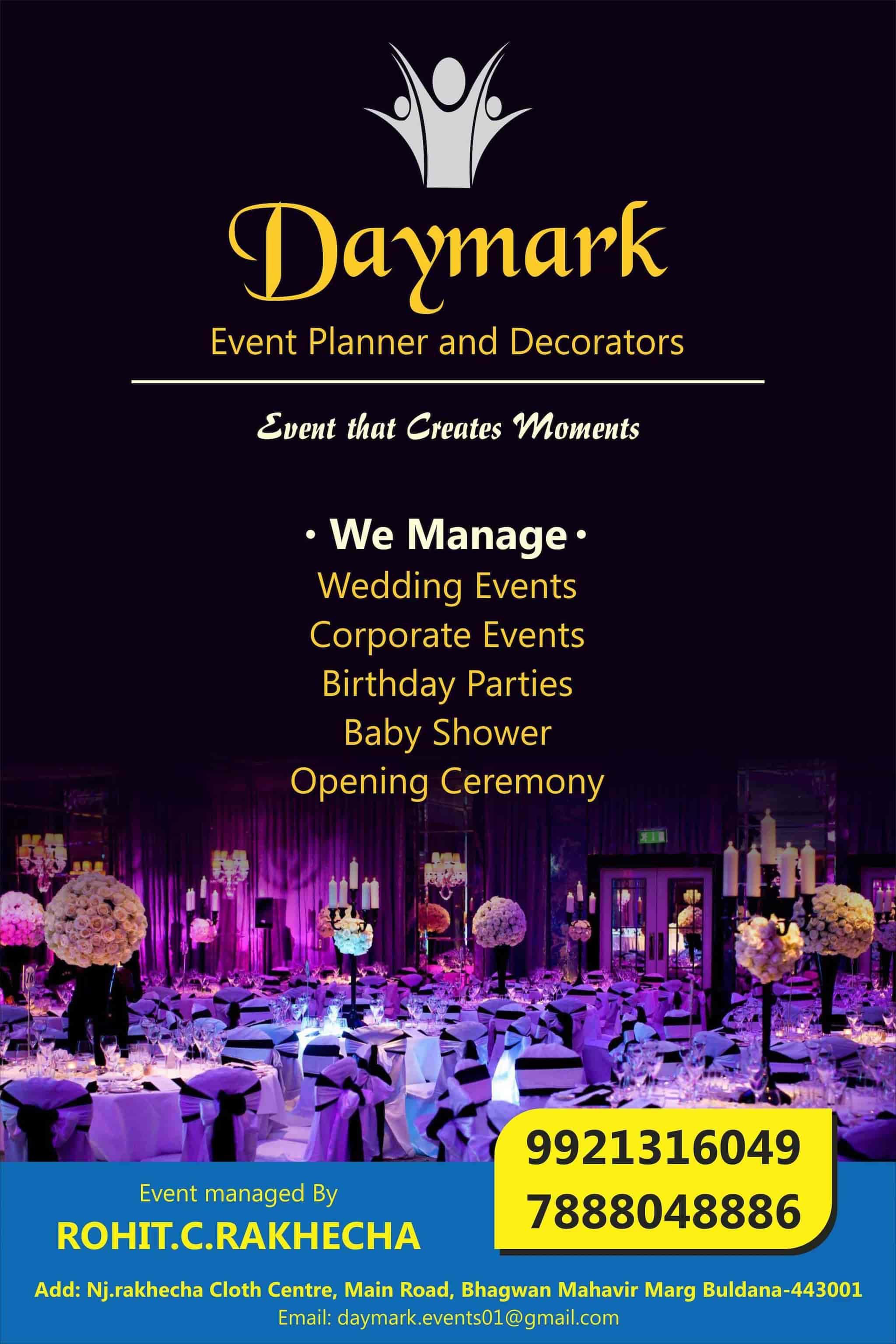 Daymark Event Planner Decorator, Buldana H O - Event