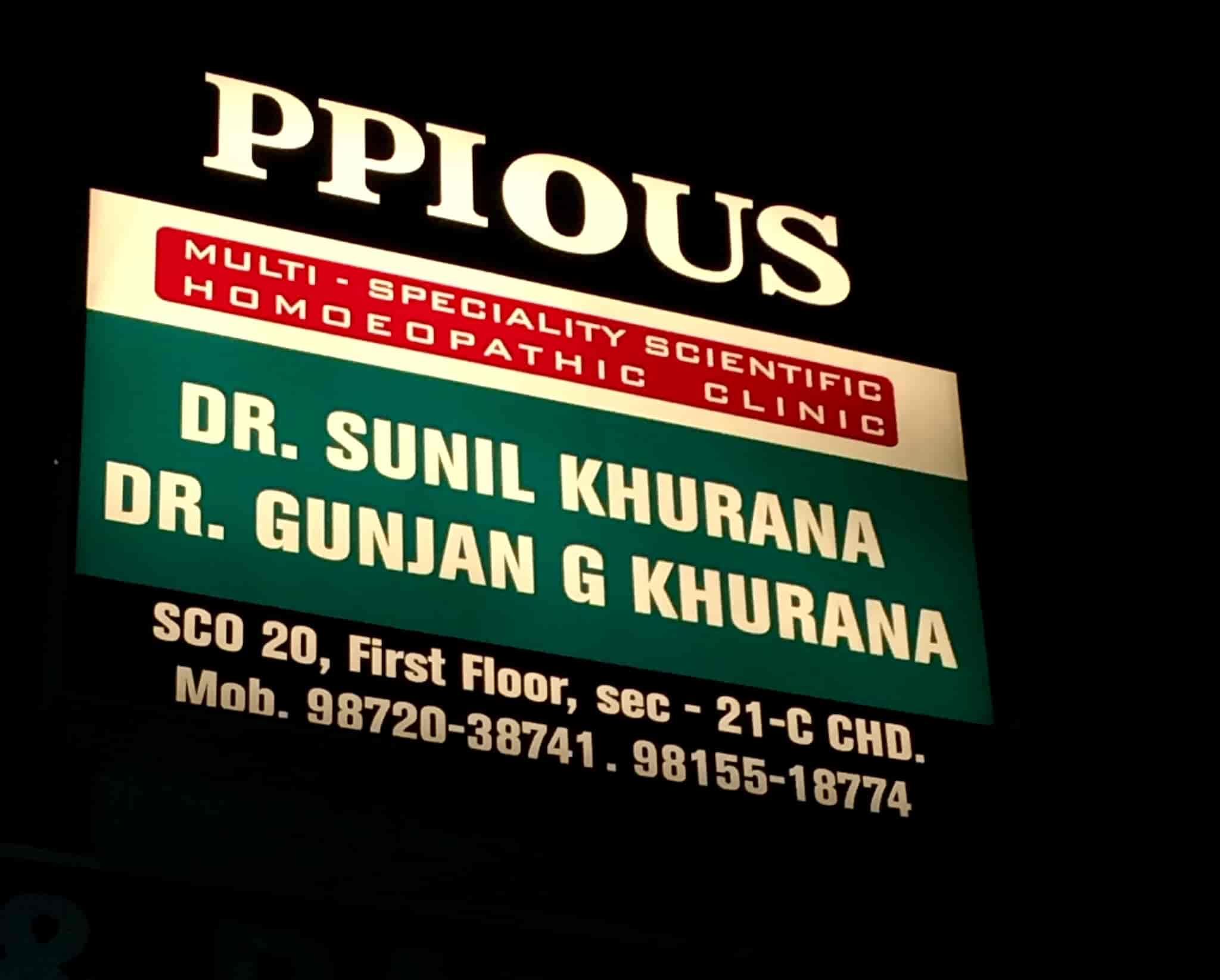 Ppious Homoeopathic Clinic, Chandigarh Sector 21a