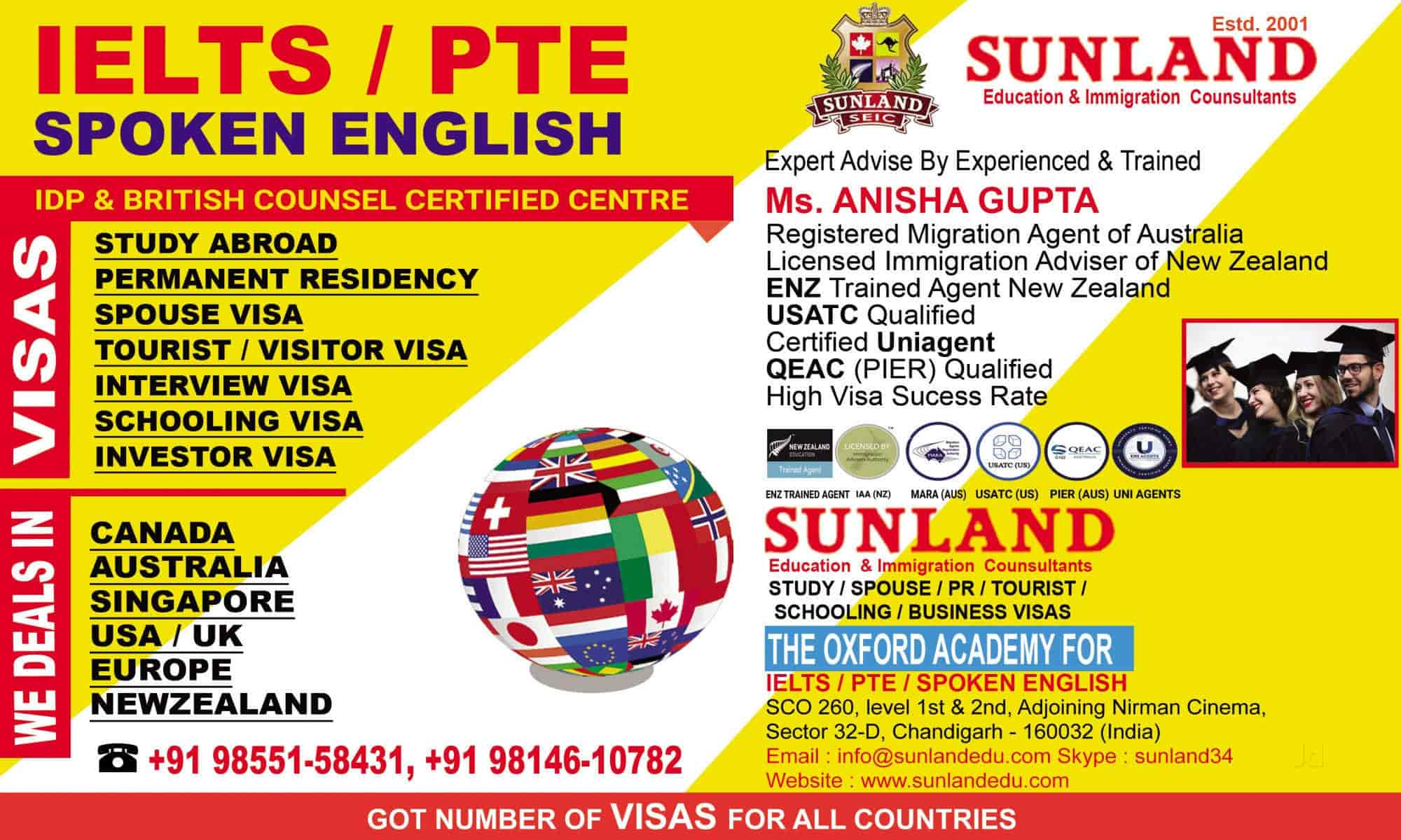 Sunland Education & Immigration Consultants, Sector 32d