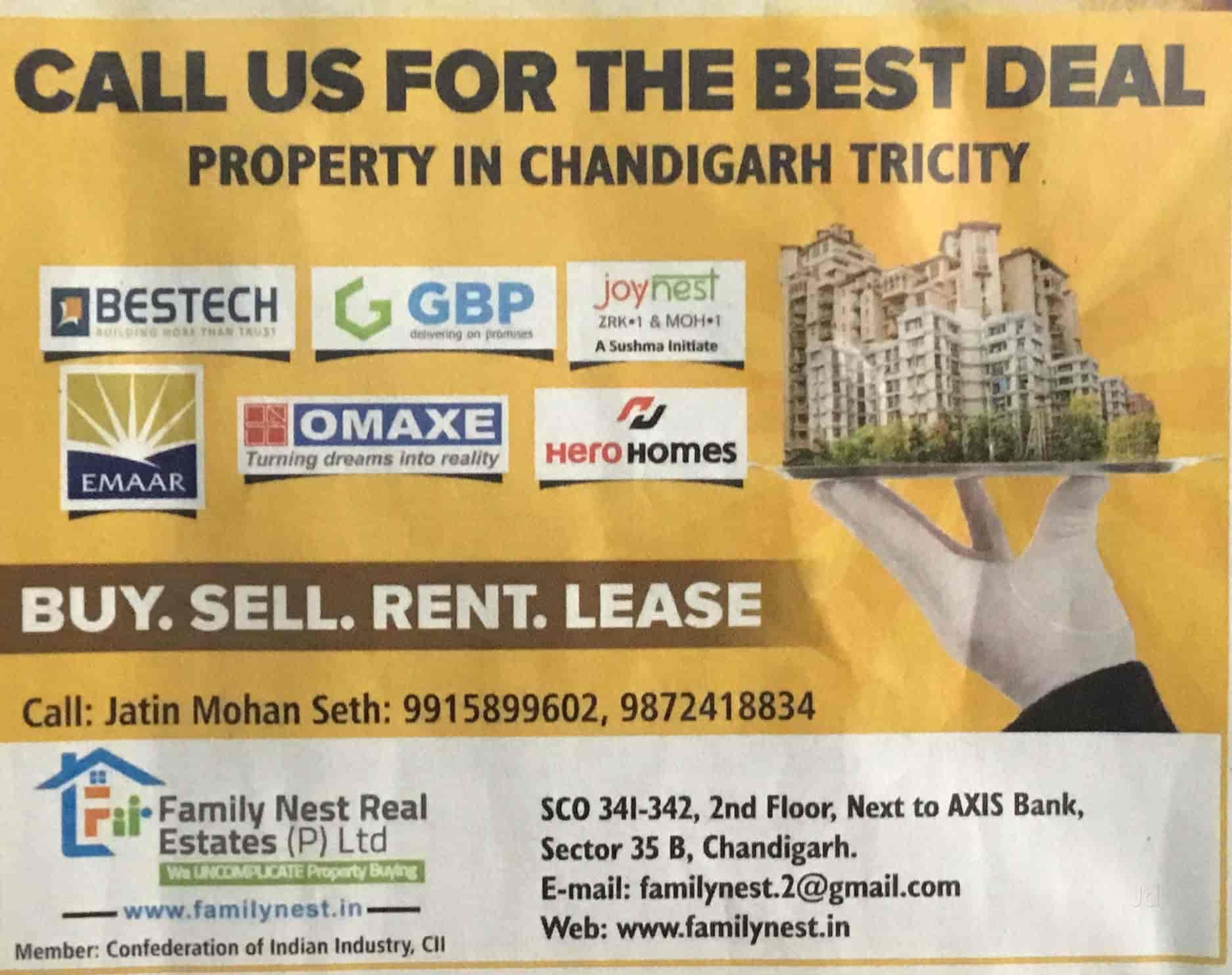 Family Nest Real Estates Pvt Ltd, Sector 35b - Estate Agents