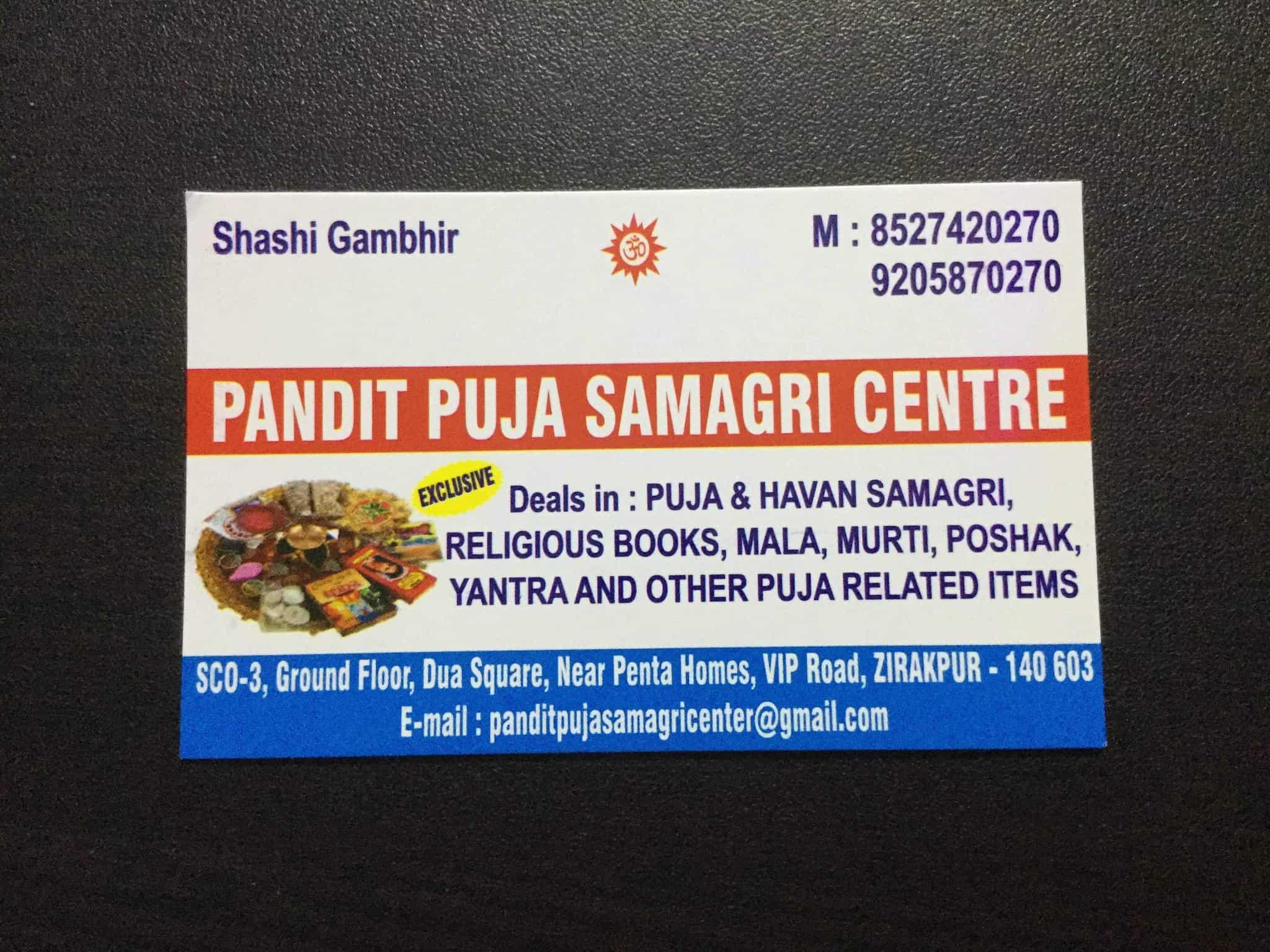 Pandit Puja Samagri Centre, Near Penta Homes - Agarbatti Dealers in