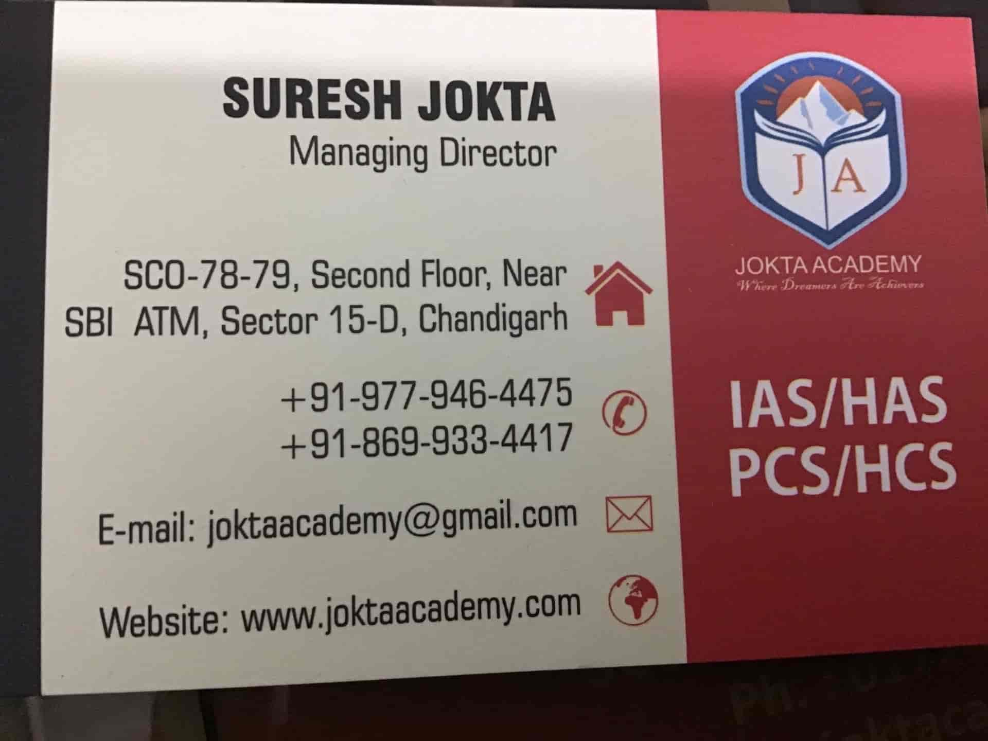 Jokta's Academy, Chandigarh Sector 15d - Competitive Exam