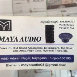 Maya Audio, Naya Goan - DJ Equipment Dealers in Chandigarh