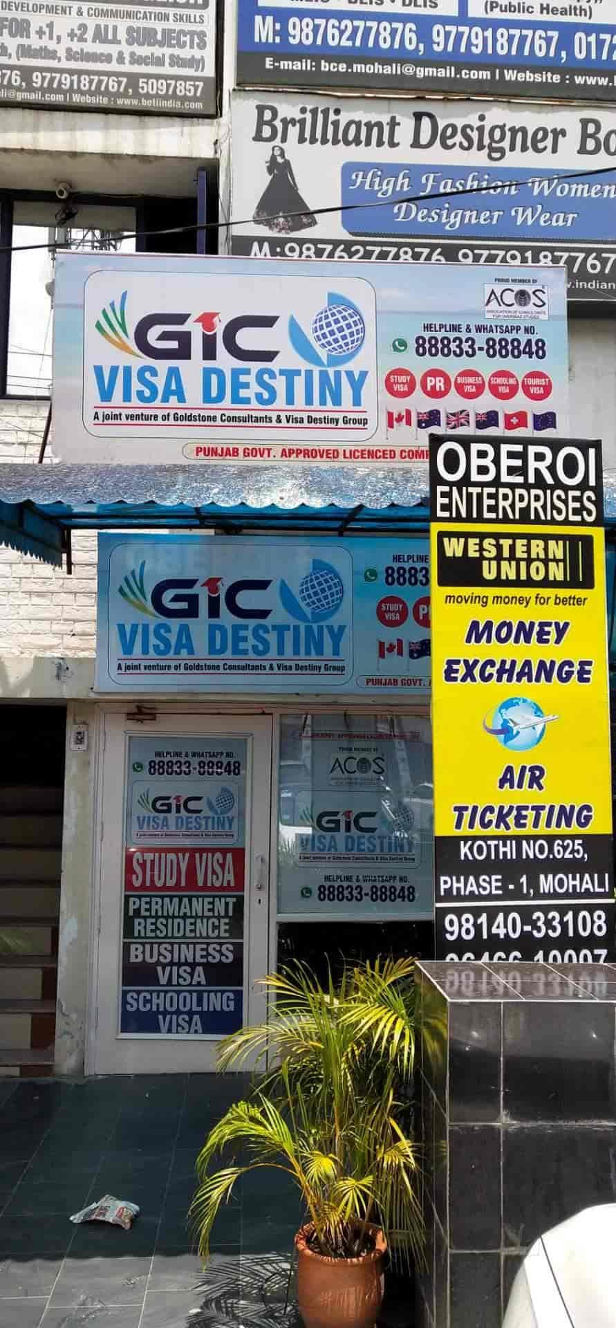 Gic Visa Destiny, Opposite Franco Hotel - Visa Assistance in