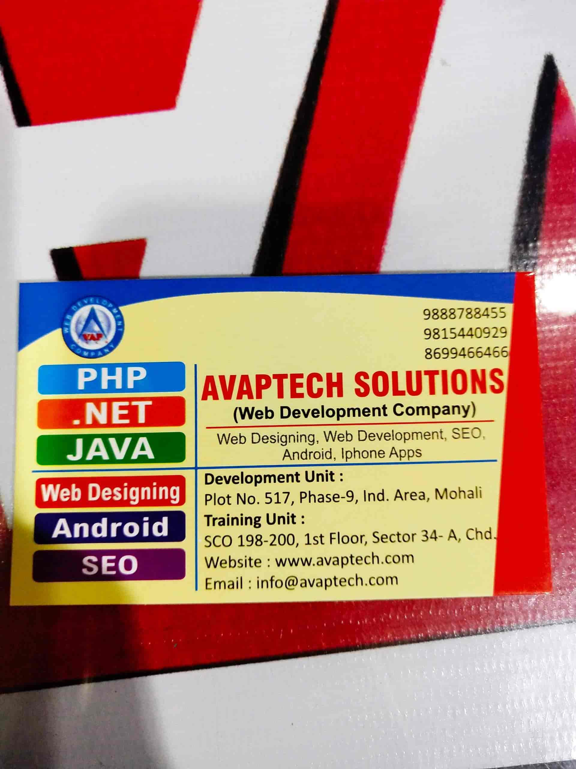 Avaptech, Near Sector 34-A - Computer Training Institutes in