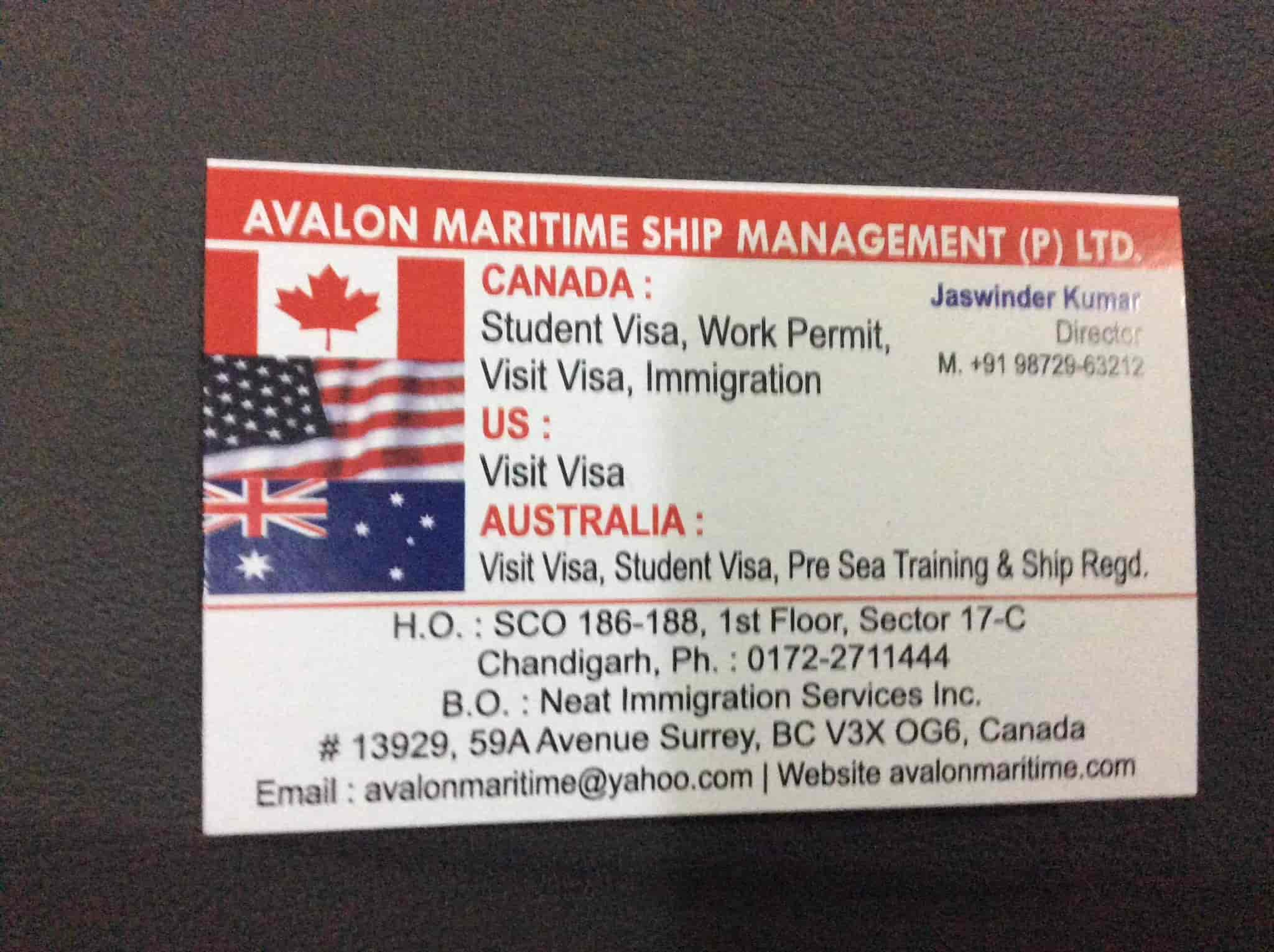Avalon Maritime Ship Management Photos Sector 17c Chandigarh Merchant Navy Consultants